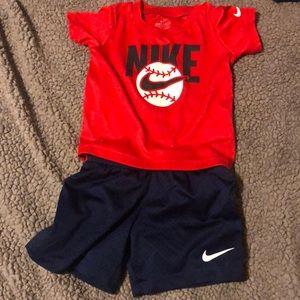 Nike short and baseball logo set